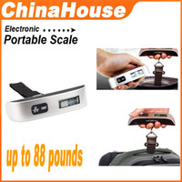 Wholesale LCD Digital Baggage Scale Travel Luggage Weight Hook Scale LB KG W Temperature