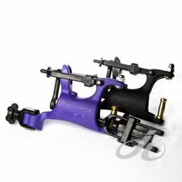 Wholesale 2 Butterfly Rotary Tattoo Machine Guns Purple Black Color Swashdrive WHIP Tattoo Kits Supply