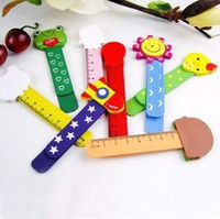 Wholesale Free Ship Countryside Baby cartoon wooden wedding bookmarks ruler Creative gift lovely ruler