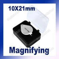 Wholesale 10x mm Durable Jewelers Eye Loupe Magnifier Magnifying glass Silver