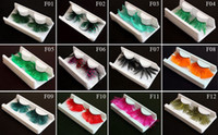 Wholesale Feather Eyelashes Exaggeration False Eyelashes Charming Party Fake Eyelashes Mix Order