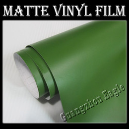 Wholesale Matte Military Green Vinyl Wrap Stickers Wrapping Sticker Decals Film on the Car Autmocycles Surface Body With Air Drains M Meter