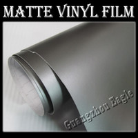Wholesale Matte Grey PVC Vinyl Wrap Stickers Wrapping Decals Wrap for Car Motorcycles Body Decoration Accessories With Air Drains M Meter