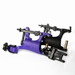 Wholesale 2 x Rotary Tattoo Machine Guns Swashdrive Whip Style Full adjustable Purple Black M629