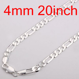Best Concis 30pcs 925 Silver Man's Chains Necklaces , Jewelry Figaro Necklace Free Shipping NS002-2