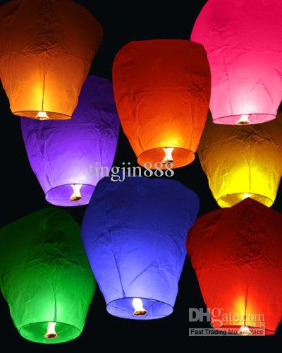 Hot Sell 20PCS FIRE SKY CHINESE LANTERNS ANNIVERSAIRE WEDDING PARTY UFO