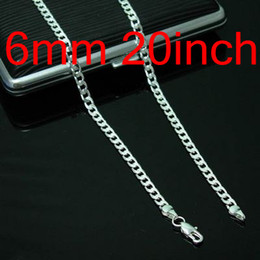 20inch Design 10pcs Man's Chains Necklaces , 925 Silver Jewelry Curb Figaro Necklace Good Selling