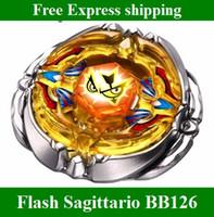 yello beyblade flash sagittario - 2014 hot Beyblade D Metal Fusion BB Flash Sagittario WD kids toys