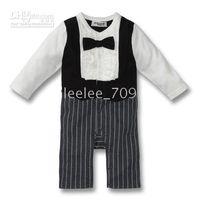 Nissen baby boy gentleman texudo long sleeve ruffle one- piec...