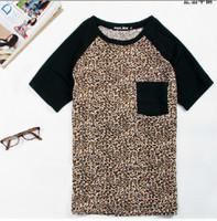 raglan shirt - Leopard raglan fashion t short men Korean cotton t shirt