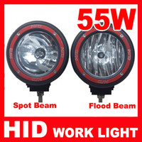 Wholesale EMS Free quot W offroad HID xenon Driving Light Work Light spot flood Beam Fog Light for SUV