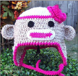 Wholesale 200pcs OWL cap children OWL hat Bearded cap Hot sale kids manual cap crochet OWL beanie handmade