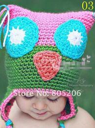 Wholesale OWL cap children OWL hat Bearded cap kids manual cap crochet OWL beanie handmade