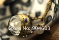 Wholesale 12pcs Vintage Steampunk Style Ball Pocket Watch Necklace WN11026