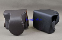 Wholesale Fashion camera case bag camera bag for Nikon V1 mm lens black brown
