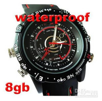Wholesale fast shipping GB watch CCTV Waterproof HD Spy Watch Camera DVR Record M Pixles S2W