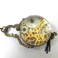 bell pocket watch - See Through Antique Bronze Pocket Watch CAIFU Bell Xmas