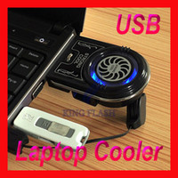 Wholesale Mini Vacuum Case Cooler USB Cooling Fan for Laptop Notebook FYD Blue LED light