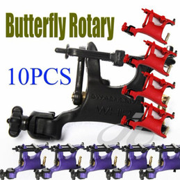 Wholesale 10Pcs Butterfly Tattoo Rotary Machine Swashdrive WHIP Motor Gun Colors to Choose Kits Supply