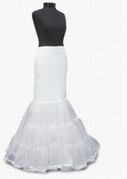 Wholesale In Stock White Wedding Petticoat Crinoline for Mermaid Bridal Gown Slip Underskirt