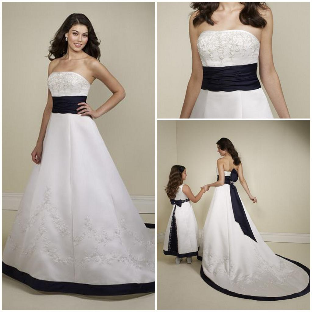 Navy blue wedding dresses with