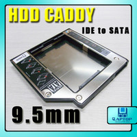 Wholesale 9 mm PATA IDE to Sata HDD Hard Drive Caddy UltraBay Slim For Laptop IBM T4 series T40 T41 T42 New
