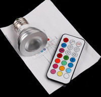 Wholesale 100 V W E27 RGB led lamp Color Change LED RGB Light Bulb with Remote Control from gfgp china