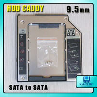 Wholesale 9 mm Sata to Sata HDD Hard Drive Caddy UltraBay Slim For Laptop IBM T400 New