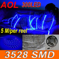 Wholesale LED Flexible Light Strip waterproof SMD LED flat rope light LED No Power adapter Blue m