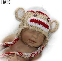 Wholesale 150pcs kids manual cap crochet OWL beanie handmade OWL cap children OWL hat Bearded cap wor