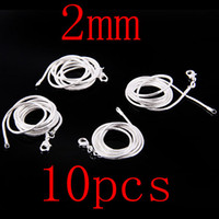 Wholesale Good Price Silver Snake Chains Necklaces mm inch inch Mixed Snake Necklaces Chains