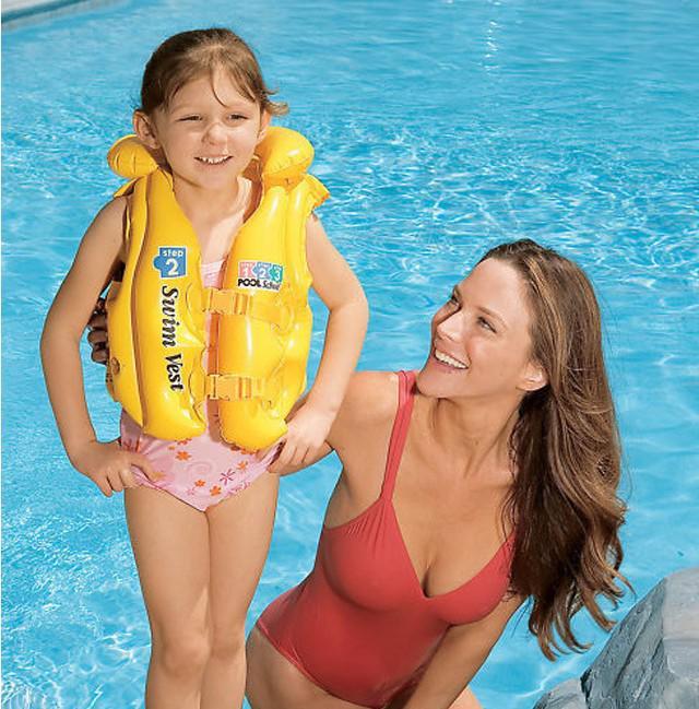 Kids In Bathing Suits Cheap air jacket - cute children bathing suit air jacket snorkeling vest