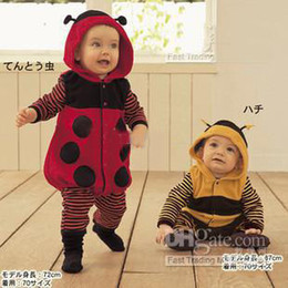 Wholesale baby rompers suit ladybird bee style suit outerwear with hoody baby one piece rompers fsg