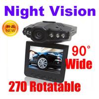 Wholesale 6 IR LED car dvr Car IR Vehicle DVR Dashboard Camera HD Recorder H198 night vision