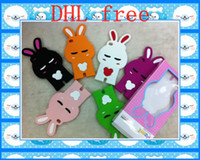 Yes Silicone For Apple iPhone silicone stereo rabbit pomi case cover for iphone 4 4s charger 100pcs