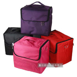Wholesale Large Capacity Multi function Cosmetic Cases Makeup Bag Portable Storage Box Oxford Cloth colours