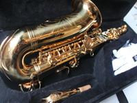 Wholesale New Arrival Golden Alto Saxophone free case