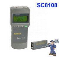 Wholesale Portable Network Cable Tester LAN Phone Cable Tester amp Meter With LCD Display SC8108