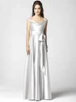 Wholesale 2012 new arrival stretch satin affordable custom made off shoulde evening dress formal wear DJ2864