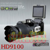 Wholesale Polo HD9100 Full HD P MP Digital Video Camcorder Digita Camera DV Long focus HD9100T Christmas gift Black high definition cameras