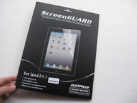 Wholesale matte Clear LCD Protector Screen Guard For iPad iPad dustproof retail package by hk post