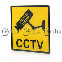 Wholesale LED light Plastic Panels CCTV Warning Sign SS110308 dhl cheapest
