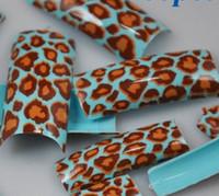 airbrush tips - Cute Animal false nail AIRBRUSH Pre Design artificial nails Acrylic FRENCH NAIL ART TIPS Half