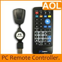 Wholesale 20pcs HTPC Black PC computer Laptop XP Vista remote control USB M Remote Control Multimedia
