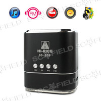 Wholesale Fashion Hi RiCE SD Mini HiFi Portable Card Reader Speaker with USB Flash Drive Micro SD FM Radio