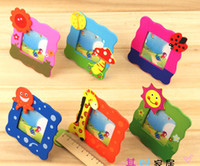 Wholesale Freeship Pieces Mixed cute wooden cartoon children s kids photo frame cartoon baby photo frame