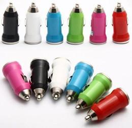 Wholesale - Mini USB Car Charger USB Adapter for 3G 4G 4GS IPAD 100pcs lot DHL free shipping