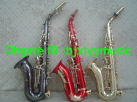 Wholesale NEW soprano saxophone small curved neck Professional Gold red black Color Select soprano saxophone withcase OEM saxophone Customize