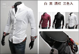 Wholesale 3Pcs Shirts For Men Slim Fit Silk Sleeve amp Collar Stylish Shirts FreeShipping Mixed Order