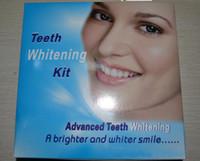 Whitening Kit   Advanced Teeth Whitening Kit,Dental teeth whitening gels whitelight lamp 100pcs free shipping